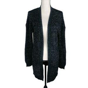 Black Knit Open Cardigan Express Size Medium